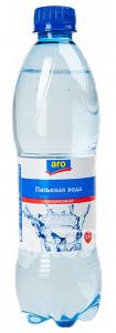 Вода АRO питьевая с газом 0,5 л.