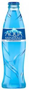 Вода Аква Минерале питьевая  с газом 0,25 л стекло