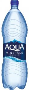 Вода Аква Минерале питьевая  с газом 2 л.