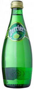 Вода Perrier питьевая  с/г лайм 0,33 л стекло/4/