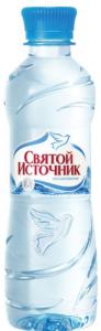 Вода минеральная пластик без газа 500 мл. /12 шт./ ТМ Святой источник