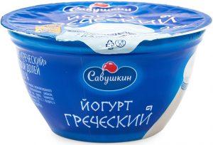 Йогурт натуральный греческий 4%, 140 гр. ТМ Савушкин продукт