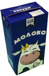 Молоко 2,5 % тетрапак 1 литр. ТМ Коровка/Кружева