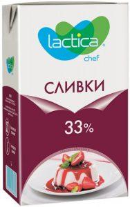 Сливки натуральные 33% 1 литр ТМ Лактика